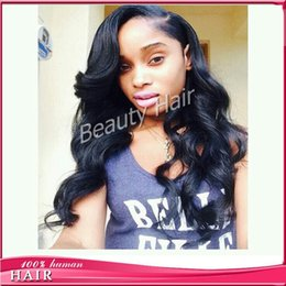 Wholesale Long Brown Wig Wavy Cosplay - Loose wavy glueless silk top full lace wigs lace front human hair wigs with baby hair free part