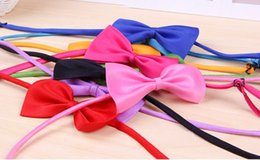 Wholesale Cheapest Ties - Cheapest Hot Sale Dog Neck Tie Dog Bow Tie Cat Tie Supplies Pet Headdress adjustable bow tie Free DHLShipping