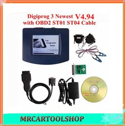 Wholesale Odometer Programmer Obd2 - 2015 Hot Selling V4.94 Digiprog III Digiprog 3 Odometer Programmer digiprog3 With OBD2 ST01 ST04 Cable Odometer Correction