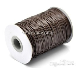 Wholesale Waxed Cotton Material Wholesale - JLB 180m lot 1mm Wholesale lots Fashion Jewelry Findings Brown Waxed Cotton Cords fit Necklace Bracelet DIY Materials Accessories Free shipp