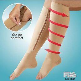 2015 kadın Sıkıştırma zip up sox çorap Çorap tayt basınç çorap ince bacak ısıtıcıları şekillendirici çorap ince çorap tayt 200 pairs nereden