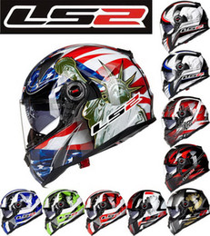 Wholesale Helmets Cross Country - 2016 FASHION LS2 fiberglass double lens Motorbike helmets professional-grade FF396 Cross country Full Face motorcycle helmet with airbag