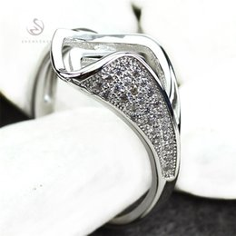 Wholesale Products For Promotion - First class products Noble Generous MN3136 sz#6 7 8 9 Classic White Cubic Zirconia Favourite Copper Rhodium Plated for women Rings Promotion