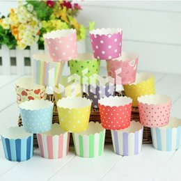 Wholesale Muffin Paper Cups Size - Mixed Styles! 100pcs Paper Baking Cups Cupcake Liners Bulk Wrappers Wrapping Paper Assorted Muffin Cups Size S