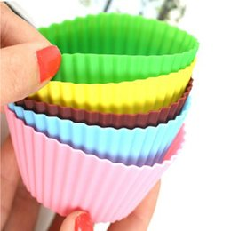 Wholesale Wholesale Silicone Tart - Wholesale- 10Pcs Cake Muffin Pastries Pie Cupcake Stand Mold, Silicone Tart Form, Bake Dessert Decorating Tool Bakeware Oven Grill Fluffy
