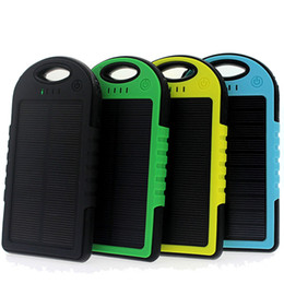 Wholesale Best Universal Battery Charger - for iphone solar power bank power case5000mAh dual USB port external battery charger water proof solar power bank best christmas gift OTH013