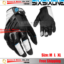 Wholesale Motorcycle Motocross Bike Cross - Wholesale-FREE SHIPPING American SIXSIXONE EVO Gloves 661 Cross-country Mountain Bike Gloves Motorcycle MOTOCROSS Gloves