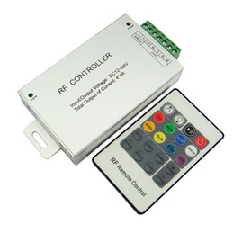 Wholesale Wireless 12v Rf Controller - RGBW LED Strip Light Controller 4Channels 16A with RF 20 Keys Wireless Remote Controller