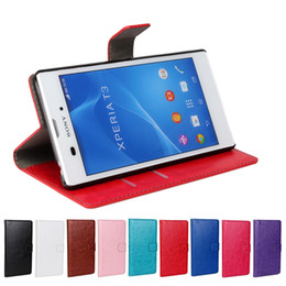 Wholesale Google Mobile Wallet - Stand Wallet Leather Case for T3 T2 Ultra Z3 MINI for Motorola MOTO G2 GOOGLE NEXUS 6 with Credit Card Slot Crazy Horse Mobile Phone Pouch