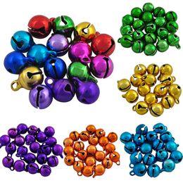 Wholesale Iron Xmas Tree - Sale 9*6mm Iron Loose Beads Small Jingle Bells Merry Xmas Christmas Tree Decoration Ornament Home Free Shipping 40pcs lot