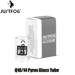 Wholesale Tube Boxes Wholesale - 100% Original Justfog Q16 Q14 Atomizer Replacement Pyrex Glass Tubes For Q16 Tank Kit With Retail Box High Quality