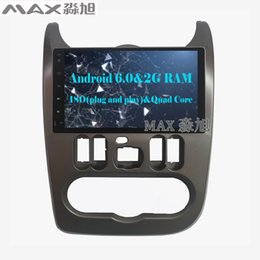 Wholesale Dvd Car Player Renault - 2G+16G Android 6.0 Car DVD Player For Renault Logan Sandero Duster Autoradio with 1024*600 Radio BT WIFI SWC GPS
