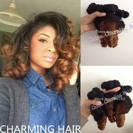Wholesale Curly Two Tone Hair Extensions - 8A Brazillian Virgin Hair Extension aunty Funmi Hair Spring Wave Two Tone Human Hair Ombre Brazilian Hair Products