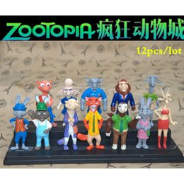 Wholesale Order Mini Toys - 2016 New designer 12Pcs set Zootopia Figure Pre Order Judy Hopps Mr Big Mini Toys Set Kids Gift Fast shipping