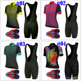 Wholesale Women Bike Clothing - ALE Dots Cycling Jerseys Set 2017 Summer Style For Women Quick Dry +9D GEL Padded Bike Wear Size XS-4XL Bicycle Clothing