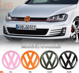 Wholesale New Vw Golf Cover Case - New products case for VW Volkswagen Golf 7 golf 7 GTI car cover Front and Back Grille Emblem Badge Logo Fit car styling