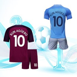 Wholesale Football Jersey Printing - 17-18 football suits, 10 Aguero jerseys, short sleeved jerseys, you can print names and numbers.