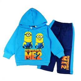 Wholesale Clothes Kids Ch - Minion Minions Hoody Hoodie Boys Clothing Sets Kids Suit Outfits New 2015 Childrens Activewear Pants Child Boys Suits Children Outfi CH-241