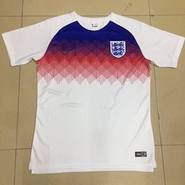 Wholesale Football Uk - New England 2018 World Cup Jersey ROONEY KANE VARDY Soccer Jerseys STURRIDGE STERLING HENDERSON football shirt white WC Jersey Uk Camiseta