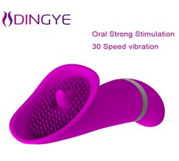 Wholesale Lick Vibrators For Oral Sex - Pretty Love Licking Toy 30 Speed Clitoris Vibrators for Women Clit Pussy Pump Silicone G-spot Vibrator Oral Sex Toys Sex Product