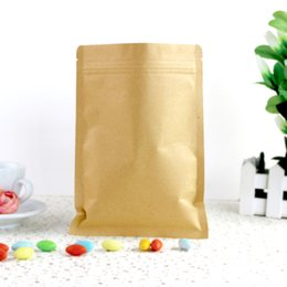 "Wholesale Kraft Paper Zipper Bags - 10cm*15cm (3.9""*5.9"") Kraft Paper   Aluminum Foil Valve Zipper Plastic Retail Package Pack Bag Zip Lock Bag Retail Packaging"