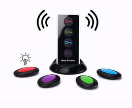Wholesale Glass Alarm - smart activity trackers 4 in 1 wireless smart remote key finder tracker locate lost remotes purses glasses caller anti-lost alarm flashlight