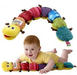 Wholesale Newborn Easter Gifts - Plush Baby Toys Multicolor Unisex Musical Inchworm Stuffed Plush Soft Sound Paper rattles Toy Educational for Caterpillars Bb Newborn Gift