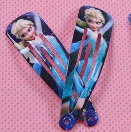 Wholesale Slide Hair Barrettes - Elsa Olaf Baby Hair Accessories Children Hair Accessories Kids Clip Fashion Barrettes Girl Hair Clips Hair Slides YY256