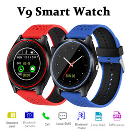 Wholesale Gsm Watch Mobile Phone - V9 Smart Watch GSM Phone Smartwatch Android V8 DZ09 U8 Smart Watches SIM Intelligent Mobile Phone Watch Can Record the Sleep State