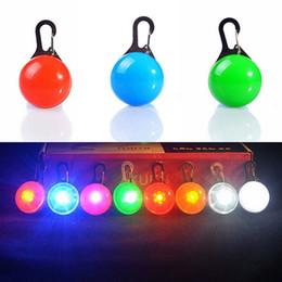 Wholesale Dog Tags Pet Supplies Pendants - Pet Dog Led Flashing Safety Night Light Clip Buckle LED Collar Luminous Pendant Glowing Dog Bells Anti-lost Pet Supplies 9 colors YFA113