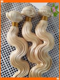 2019 tissage de la tête complète péruvienne 2017 New Body Wave Weave 60 Platinum Blonde Extensions de Cheveux Brésiliens Armure de Cheveux Malaisienne Indienne Péruvienne Full Head 3 Pc 100G / Bundle Pas Cher promotion tissage de la tête complète péruvienne