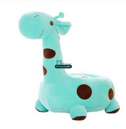 Wholesale Stuffed Giraffe Plush Toy - Dorimytrader 65cm X 45cm X 45cm Lovely Stuffed Soft Giant Cartoon Animal Giraffe Kids Sofa Toy 3 Colors Nice Gift Free Shipping DY60887