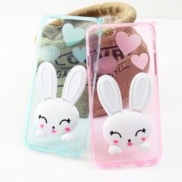 Wholesale Cute Cat Ear Iphone Case - cell phone case New 3D cute Ear Cat Rabbit soft TPU Case for IPhone 6s plus phone cases Ear Rabbit