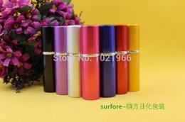 Wholesale Anodized Spray - 2015 Travel perfume bottles 10ml spray bottle of perfume anodized metal perfume bottle dispensing tube perfume bottles perfume b