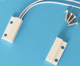 Wholesale Wired Door Contact Magnetic - 200pairs lot wired N C normally closed door magnetic contacts reed switches with bolt