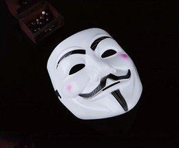 Wholesale Vendetta Mask White - V Mask Vendetta party mask Halloween Mask Party Face Mask Halloween Mask Super Scary Fedex DHL free