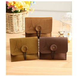 Wholesale Tower Cards Credit - 2016 Classic Tower Girls School Bag Cosmetic Makeup Bag key Case Coin Pouch Purse 3 colors