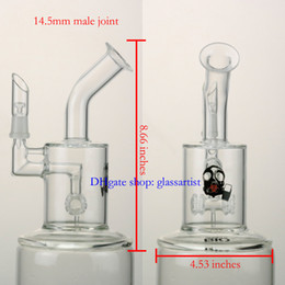 Wholesale Dome 5mm - glass bong 8.6 inches water pipe, 5mm thickness,14mm male oil rig,giving dome and nail,good function,free shipping