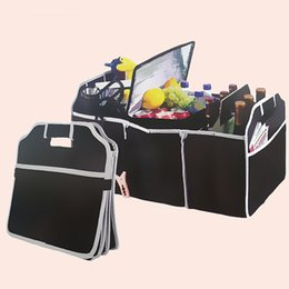 Wholesale Fabric Trunks - Car Trunk Storage Container Bag High Capacity Non Woven Organizer Toy Storages Box Black 5 5hj C R