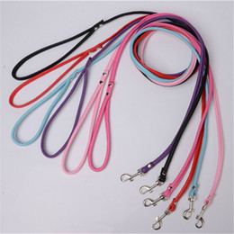 Wholesale Long Leather Leash Wholesalers - Pet Cat Puppy Dogs Leash Long Smooth PU Leather Leashes Solid Color Dog Traction Rope Suitable for Small Dog ET1073