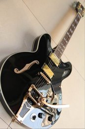 Wholesale China Jazz - 20130109 best china Jazz guitar Custom Shop 355 Electric Guitar top quality 1959 OEM Musical Instruments in black 130109