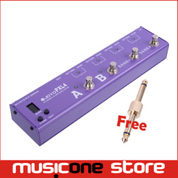 Wholesale Purple Black Guitar - JOYO PXL4 Black Purple Wave-x 4 CHANNEL FX SWITCHING SYSTEM Free connector
