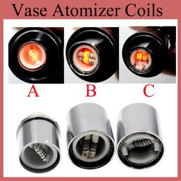 Wholesale Wholesale Single Coil Tank Replacement - Single Dual Ceramic Cotton Coil Replacement Coils Head for Glass Wax Atomizer Vapor Cannon Clearomizer Tanks Free Shipping FJ029