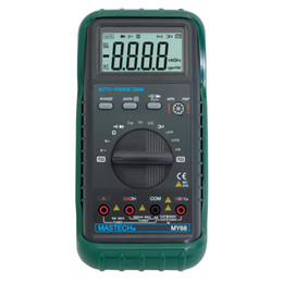 Wholesale Test Transistor Lcd - MASTECH MY68 Handheld Digital Multimeter LCD Display Multimetro AC DC Volt Amp Ohm Frequency Capacitance Transistor Test