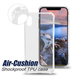 Wholesale Cushions Cases - Shockproof Transparent TPU Case For IPhone X 8 Plus Case Four Angle Air-Cushion Soft Gel TPU Case Clear Back Cover For Samsung S8 S8Plus