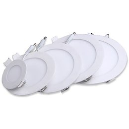 Wholesale 85 sale - hot sales LED Panel Light Round 9W 12W 15W Ceiling Lights Nature White Warm White Cool White LED Downlights in Lighting China