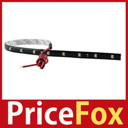 Wholesale Smd Led String - Wholesale-[Price Fox] New 3020 SMD 15 Led Lamp String Waterproof Flexible Car Strip Light 30CM Red High Quality