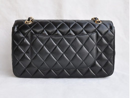 Wholesale Handbag Wallets - High Quality Fashion women's leather Handbag Double Flap Shoulder Bags Quilted Chain totes bag purse wallet free shipping