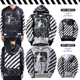 Wholesale Pyrex Religion White - Brand New Off White C O Pyrex Vision Religion Mens Sweater Long Sleeve Hoodies Marbling Printed 2017 winter Loose Pullover tracksuit 6552