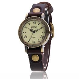 Braccialetti di marca della porcellana online-Orologi di moda di marca di CCQ di modo delle signore del cuoio delle donne degli SUA del cuoio dell'annata femminile classica dell'orologio del braccialetto delle donne della Cina Relogio Feminino